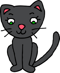 Cute Black Kitty Cat Clipart Free Clip Art