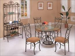 kitchen round formal dining table sets concrete rectangular
