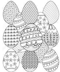 Happy Easter Day Zentangle Coloring Page