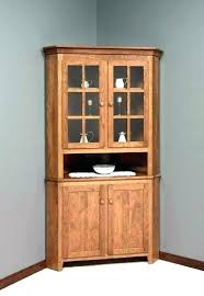 Diy Corner Hutch Buffet Table Wooden Cabinet Dining Room Small Kitchen