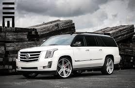 Cadillac Escalade ESV lowered on ADV 1 Custom Wheels — CARiD