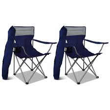 WEISSHORN Set Of 2 Folding Camping Chairs Armchair Garden Fishing Chair Navy Volkswagen Folding Camping Chair Lweight Portable Padded Seat Cup Holder Travel Carry Bag Officially Licensed Fishing Chairs Ultra Outdoor Hiking Lounger Pnic Rental Simple Mini Stool Quest Elite Surrey Deluxe Sage Max 100kg Beach Patio Recliner Sleeping Comfortable With Modern Butterfly Solid Wood Oztrail Big Boy Camp Outwell Catamarca Black Extra Large Outsunny 86l X 61w 94hcmpink