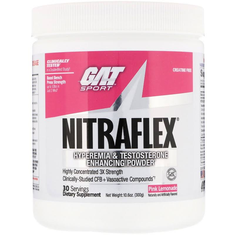 Gat NITRAFLEX Pre-Workout & Testosterone Booster 30 Servings - Pink Lemonade