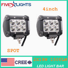 2pcs 4INCH 18W CREE LED WORK LIGHT BAR DRIVING SPOT BEAM SUV ATV UTE ... Truck Lite Led Work Light 4 81520 Trucklite Pair 27w Epistar Square Offroad Flood Lamp Boat Jiawen Car Styling 30w Dc12 24v For Safego 2pcs Work Lights 12v 24v 27w Led Lamps Car Trucks Adds White Auxiliary To Signalstat Lineup X 6 High Powered Beam 1200 Lumens Riorand Water Proof 2 60 Degree Luxurius Lights For Trucks F21 In Stunning Selection With Inch Pod Cree 60w Tri Row Bar Combo 2x 18w Pods Spot Atv Jeep Ute Great 64 On Definition 12 Inch 72w Vehicle