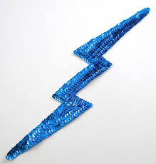 Lightening Bolt Sequinappliques