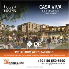 100 Casa Viva Launching New Inventory In CASA VIVA At Serena Dubailand