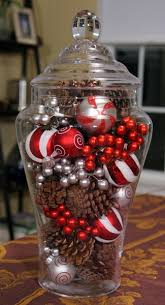 Ceramic Christmas Tree Bulbs Hobby Lobby by One Glass Jar Two Easy Holiday Centerpieces Christmas Lights
