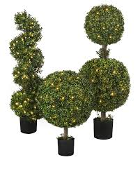 Outdoor LED Boxwood Topiary Balsam Hill Gardens Topiary
