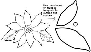 Coloring Page Or You Can Print Out This Poinsettia