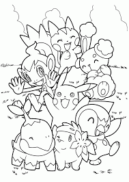 Line Drawings Online Pokemon Coloring Book For Adults On Free Printable Kids Pages