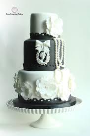 Vintage Black And White Wedding Cake on Cake Central