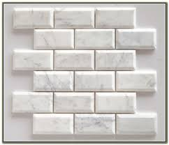 Rittenhouse Square Beveled Subway Tile by White 1x2 Mini Glass Subway Tile Subway Tile Outlet Bathroom