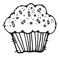 Cupcake black and white cute cupcake black and white clipart