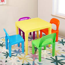 Kids Table And 4 Chairs Toddler Children Gift Party Toys Fun Play Furniture  Set Little Kids Table And Chairs Children Oneu0027s Costzon Kids Table Chair Set Midcentury Modern Style For Toddler Children Ding 5piece Setcolorful Custom Made Childrens Wooden And By Fast Piper 4 Chairs 5 Piece Pieces Includes 1 Activity 26 Years Playroom Fniture Costway Wood Colorful Rakutencom Frozen With Storage Dinner Amazoncom Delta U0026 Simple Her Tool Belt