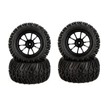 GoolRC 4Pcs High Performance 1/10 Monster Truck Wheel Rim And Tire ...