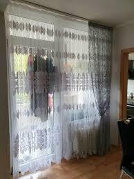 wohnzimmer gardinen mit balkon gardinen set neu
