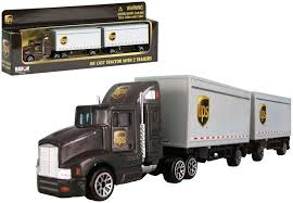 100 Ups Truck Toy Daron 187 Scale Diecast UPS Freight 12 Wheels Tractor With 2