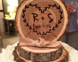 Tree Slice Cake Topper Rustic Wood Top Wedding Toppers