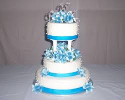 Beautiful White And Blue Wedding Cakes 4 StylishModsCom