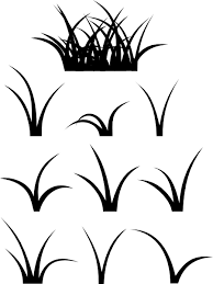 Grass Clip Art At Clker Com Vector Online Royalty Free Rh Jungle Leaves Clipart Black And White Scene