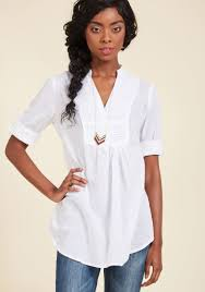 back road ramble tunic in white modcloth