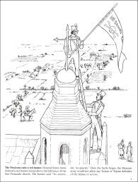 Story Of The Alamo Coloring Book