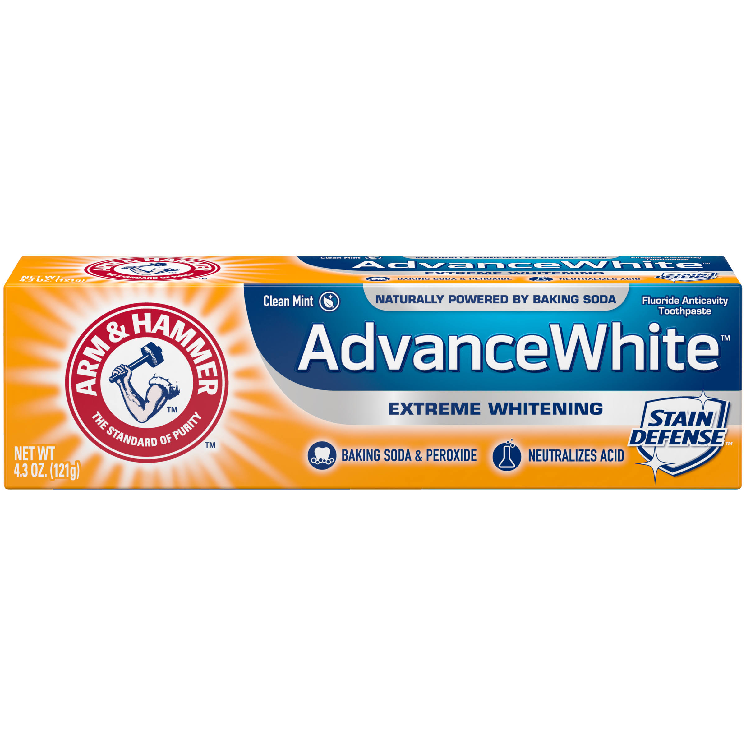 Arm & Hammer Advance White Baking Soda & Peroxide Toothpaste, Extreme Whitening - 4.3 oz tube