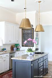 brass pendant lights in the kitchen dimples and tangles