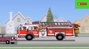 Fire Truck Rhymes For Children | Truck Toys Videos For Kids | Truck ...