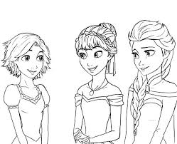 Full Image For Anna Rapunzel Princess Queen Elsa Cousin Coloring Pages Colorine And Mermaid