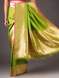 lime green fuschia banarasi silk ekaya fashionista