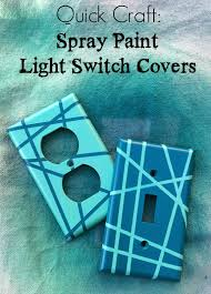 Quick Craft Spray Paint Light Switch Covers