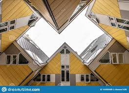 100 Cube House Design Rotterdam Sky View Editorial Image Image Of