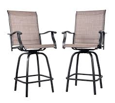 Einnehmend Outdoor Patio Chairs Bar Height Stackable Metal ...