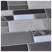 Tile Sheets For Bathroom Walls by Peel N Stick Tile Backsplash Bathroom Wall Tiles 6 Sheet Covers