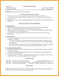 Sample Resume Summary Of Qualifications Examples