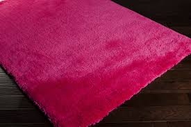 District17 Heaven Shag Rug in Hot Pink Shag Rugs Solid Rugs