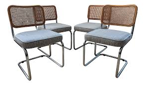 Vintage Marcel Breuer Style Cesca Chairs - Set Of 4 | Dining ... 1970s Vintage Marcel Breuer Cesca Style Chairs A Pair Set Of 4 Ding By Paxton Upholstered Cream And Nutmeg 2 Knoll Intertional Laccio Table 5 Ding Chairs For Gavina Italy 1996 State Breuerstyle Chair In Chocolate What A Room Two Toned Hide Contemporary Pretty Old X Chair Tecta 1930s 40087