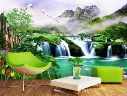 großhandel große benutzerdefinierte 3d hintergrundbilder wasserfälle wasserfall wallpaper hintergrund wohnzimmer schlafzimmer tv hintergrund wand home