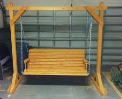 build a wood porch swing with cup holders diy projects for