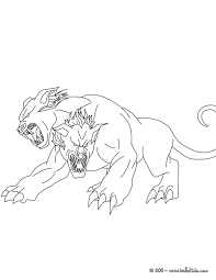 Monsters Lion Had Two Heads Coloring Pages For Kids Printable