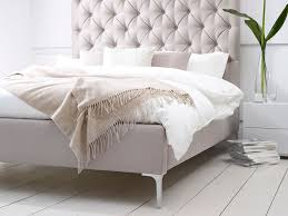 White Wooden Headboard Double by Bedroom Winsome Beige Elise Tall Buttoned Upholstered Bed With