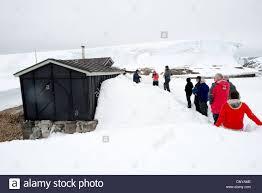 100 Antarctica House ANTARCTICA Tourists Visit The Historic Site Of Wordie In