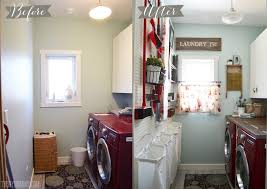 Laundry Room Sink With Built In Washboard by Vintage Red And Aqua Small Laundry Room Design Ideas The Diy Mommy