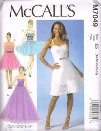 mccall u0027s m 7049 sewing pattern misses u0027 dresses by david tutera