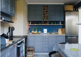 ikea blue kitchen cabinets black cabinets and blue kitchen walls blue kitchen