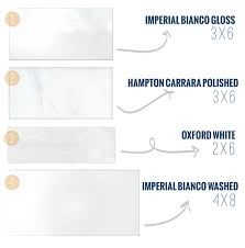 what size are subway tiles gorgeous design variations of white
