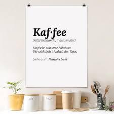 poster die definition kaffee hochformat 3 4