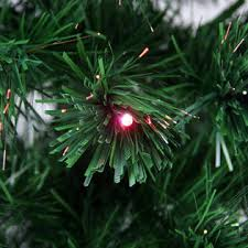 Northlight NorthLight 3 Pre Lit Color Changing Fiber Optic Christmas Tree With Star Topper
