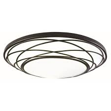 shop portfolio 19 in w black integrated flush mount light at lowes